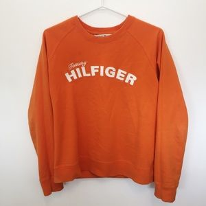 Orange Tommy Hilfiger Crewneck Sweater